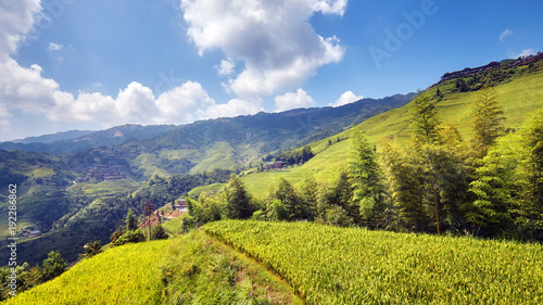 Keuken foto achterwand Rijstvelden Longji Rice terraces (Dragons Backbone) in Longsheng County, China.