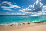 Tropical island beach. Perfect vacation background. - 192287239