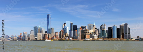 New York lower downtown panorama and skyscrapers - 192288255