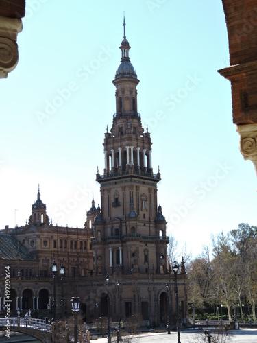 Torre sur de Plaza España, Sevilla