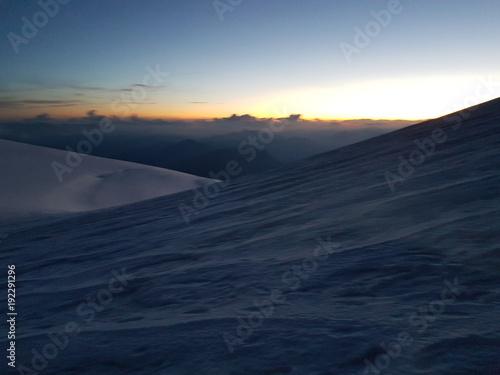 Staande foto Nachtblauw mont blanc