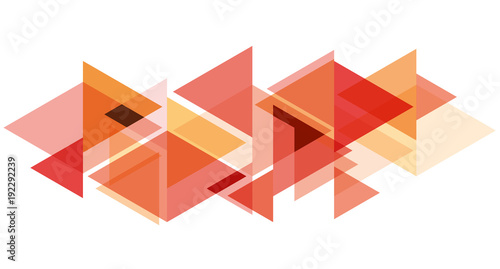 Digital painting. Abstract geometric colorful vector banner and background. Triangles and arrows in red