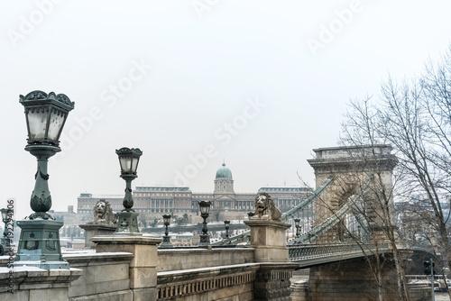 Széchenyi Chain Bridge in Budapest, Hungary, Europe