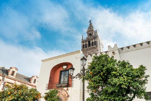 La Giralda Tower fortissima in Sevilla city, Spain