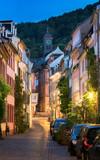 Historische Altstadt von Heidelberg mit Blick auf die Große Mantelgasse