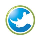 round icon with rhino vector logo type - 192300098