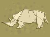 Vector abstract illustration rhinoceros. - 192310295