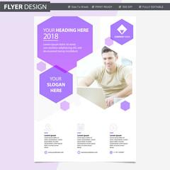 Professional Flyer design template brochure newsletter