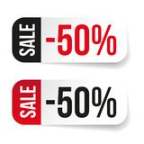 Sale label half price sticker - 192317099