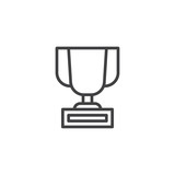 Trophy outline icon. linear style sign for mobile concept and web design. Champions cup simple line vector icon. Symbol, logo illustration. Pixel perfect vector graphics - 192322201