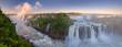 Quadro The amazing Iguazu falls, summer landscape with scenic waterfalls