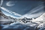 mountain, snow, winter, landscape, alps, sky, glacier, peak