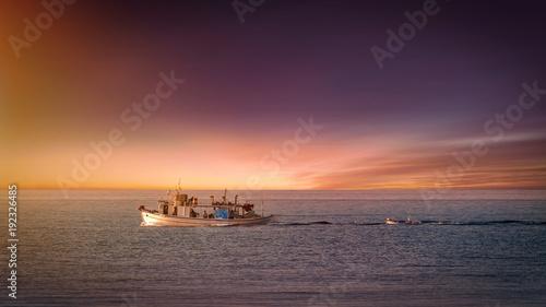 Fotobehang Zee zonsondergang sunset, sea, ocean, sky, sun, water, sunrise, beach, ship,