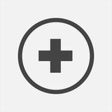 Vector icon hospital medicine. Medical cross illustration in a circle - 192326869