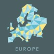 Low-poly Europe vector