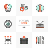 Business Development Futuro Next Icons Wall Sticker