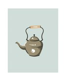 Hand drawn vector abstract modern cartoon cooking time fun illustrations icon with big vintage teapot isolated on white background.Food cooking illustrations concept design - 192330002