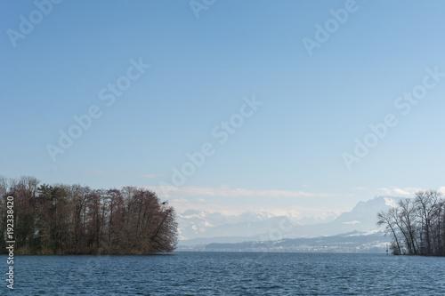 Fotobehang Bergrivier See Landschaft