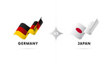 Germany versus Japan. Football. Vector illustration. - 192339698
