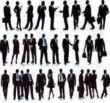 Gruppe mit diversen Geschäftsleuten, Illustration - 192341657