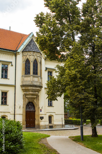 A beautiful old house in the Old Town of Prague. Czech Republic