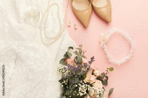 Przygotowanie do ślubu widok z góry