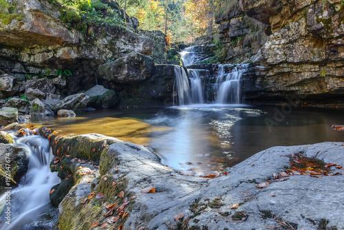 Waterfall of Puente Ra, Sierra Cebollera Natural Park, La Rioja, Spain