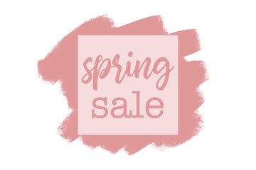 Pink Spring sale label or badge