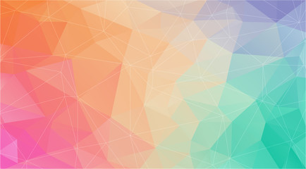 Flat polygonal abstract gradient background