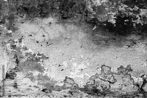 Keuken foto achterwand Betonbehang Wall fragment with scratches and cracks