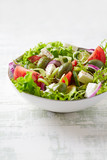 Mediterranean-style salad with feta, endive and green olives - 192368863