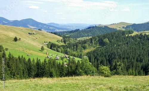Foto op Canvas Pistache Green Ukraine Carpathians in Krywopillja