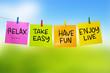Rest relax Enjoy Live, Motivational text