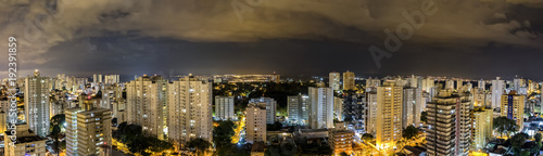 Sao Jose dos Campos city at night with cloudy sky panorama view - Sao Paulo, Brazil - 192391859