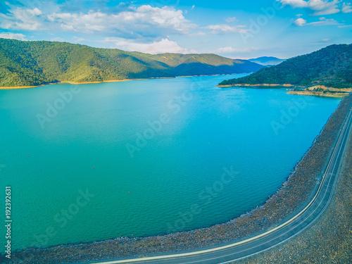 Fotobehang Blauw aerial view of Lake Eildon Dam in Melbourne, Australia