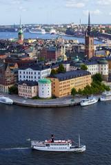 STOCKHOLM, JULY 31 , 2009: Scenic summer, aerial photo of Stockholm, Sweden