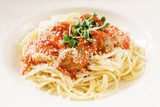 spaghetti with meatballs - 192412461