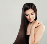 Young Perfect Model Woman with Long Hair Spa Beauty, Facial Treatment and Haircare Concept