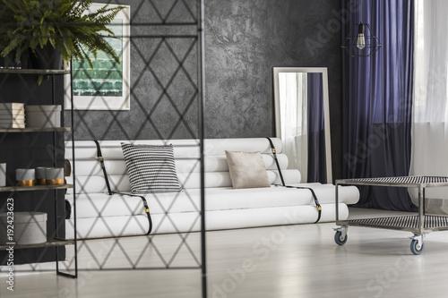 Modern apartment interior with mirror