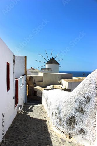 Foto op Canvas Santorini molino