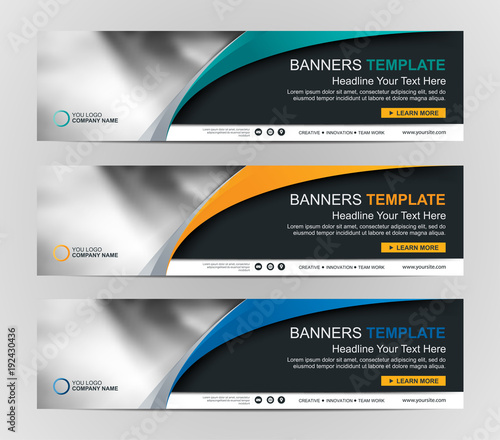 Abstract Web banner design background or header Templates | Buy ...