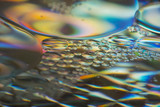 Abstract colorful Background Oil in Water close up - macro photo - 192436823