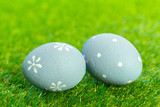 easter eggs on the grass - 192436829