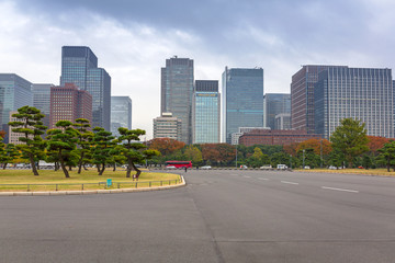 Cityscape of Tokyo at Kokyogaien National Park, Japan