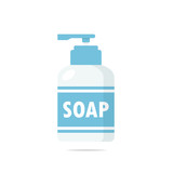 Liquid soap bottle icon vector - 192439698