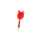 Red throwing dart isolated on white background - 192440424
