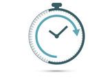 icona, orologio, tempo, cronometro, lavoro,  - 192442097