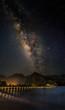 Milky Way over Kauai's famouse Hanalai Pier.