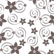 Abstract vector seamless pattern with swirls and flowers. - 192448489