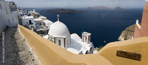 Foto op Canvas Santorini Thira